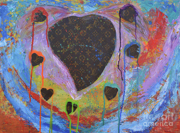Wall Art - Mixed Media - I Heart My Louis Vuitton 3 by To-Tam Gerwe