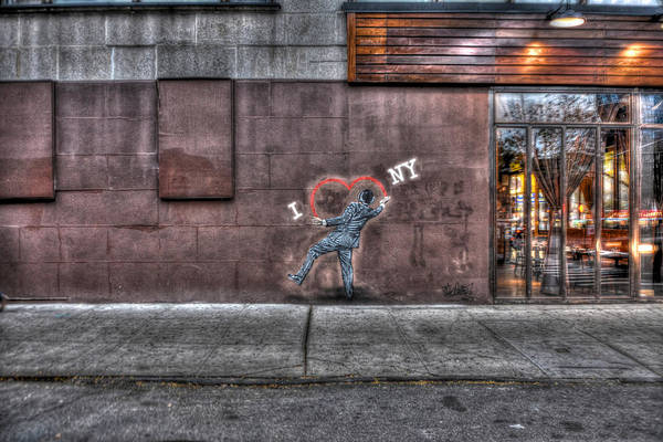 Wall Art - Photograph - I Heart Ny Street Art Mural by Randy Aveille