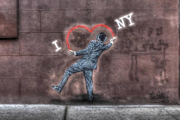 Wall Art - Photograph - I Heart Ny Street Art Zoomed In by Randy Aveille