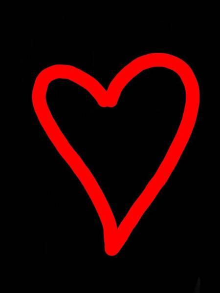 Digital Art - I Heart You by Abbie Shores