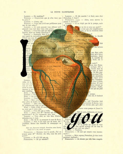 Wall Art - Digital Art - I Heart You by Madame Memento