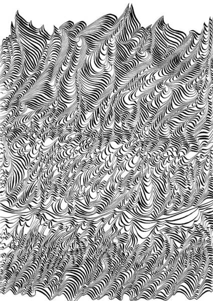 Abstract Expressionist Drawing - I Ink Therefore I Am by Hakon Soreide