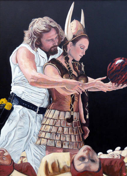 The Big Lebowski Painting - I Just Dropped In by Tom Roderick