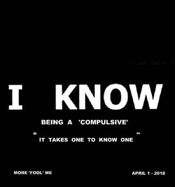 Digital Art - I Know - Being A 'compulsive' by VIVA Anderson