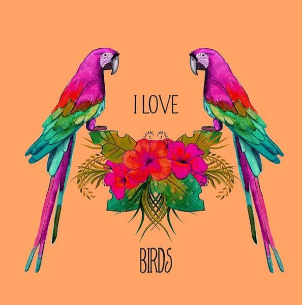 Digital Art - I Love Birds by Ericamaxine Price
