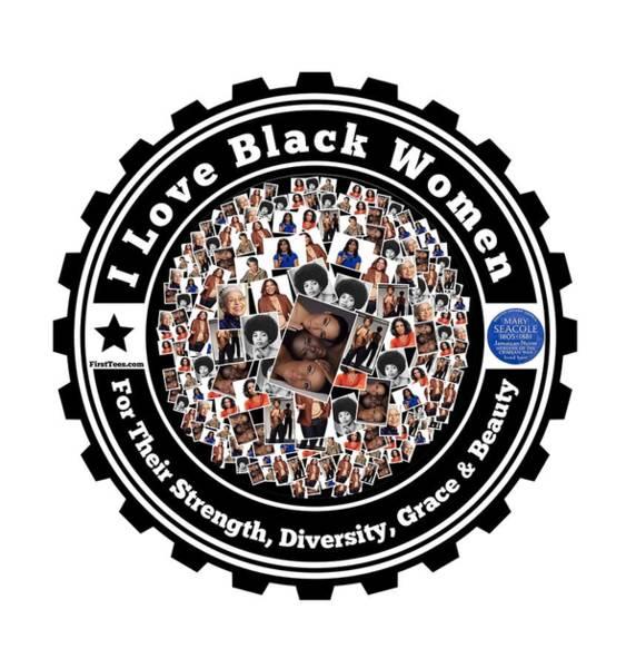 Mlk Digital Art - I Love Black Women by Firsttees Motivational Artwork