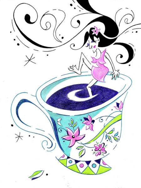 Wall Art - Drawing - I Love Coffee - Art Book Illustration by Arte Venezia