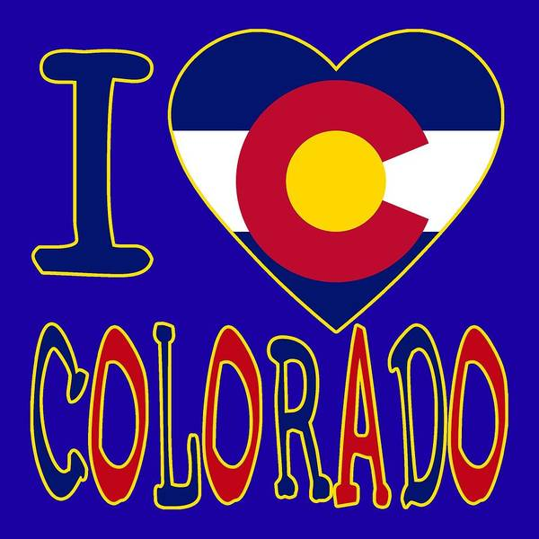 Wall Art - Digital Art - I Love Colorado by David G Paul