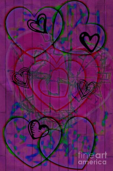 Digital Art - I Love Graffiti by Donna Bentley