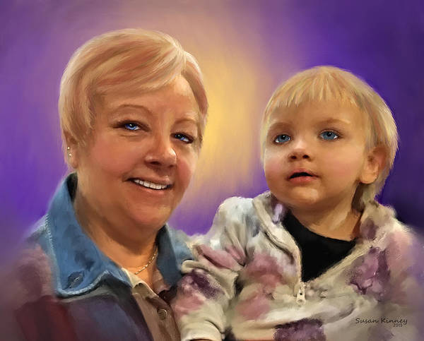 Painting - I Love Grandma by Susan Kinney