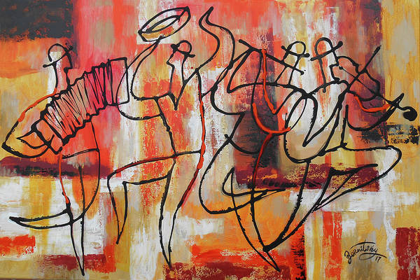 Wall Art - Painting - I Love Klezmer by Leon Zernitsky