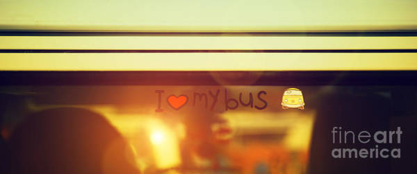 Photograph - I Love My Bus by Tim Gainey