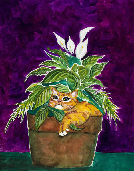 Painting - I Love My Pot by Dale Bernard