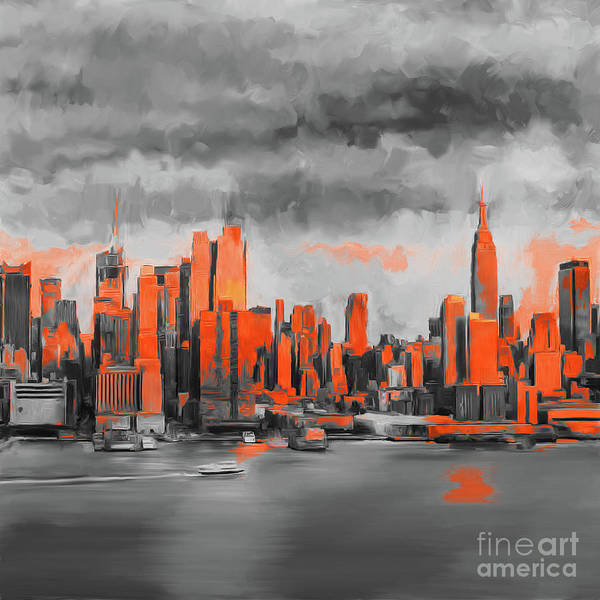 Wall Art - Painting - I Love New York  by Gull G