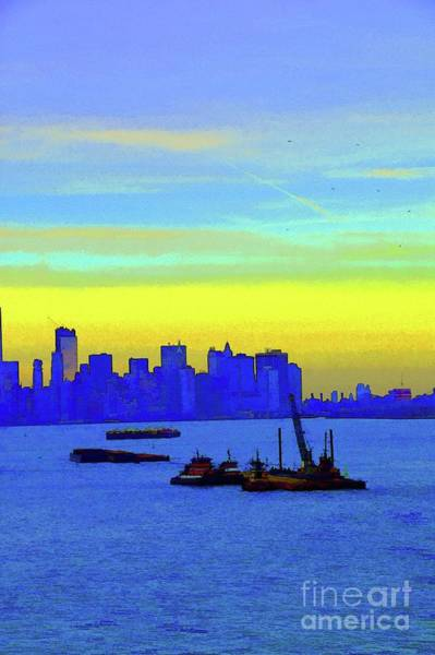 Photograph - I Love New York Sunset Digital Painting by Robyn King