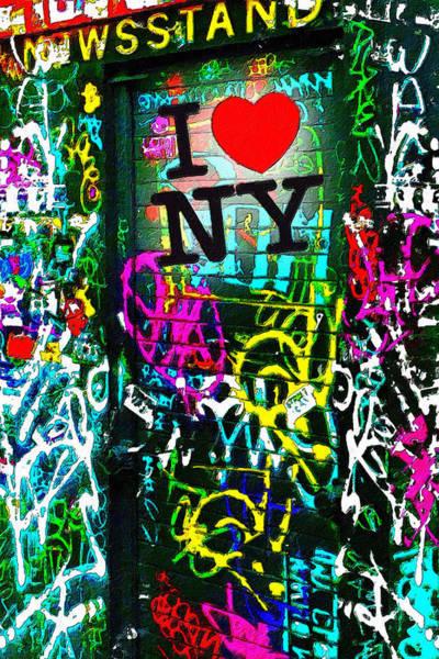 Painting - I Love Ny by Tony Rubino