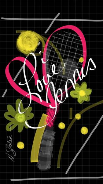 Courting Digital Art - i Love Tennis by Nicole Slater