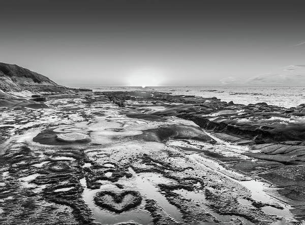 Photograph - I Love You As Big As The Ocean Too  Black And White by Scott Campbell