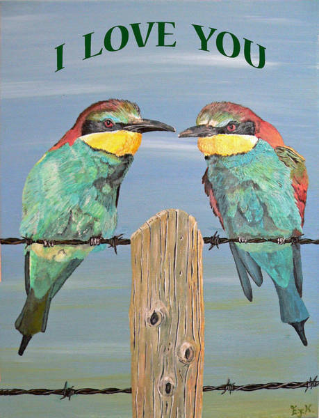 Painting - I Love You by Eric Kempson