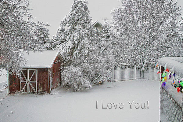 I Phone Case Mixed Media - I Love You Fresh Snow Fall In March by Thomas Woolworth