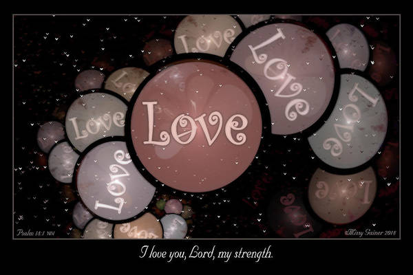 Digital Art - I Love You by Missy Gainer