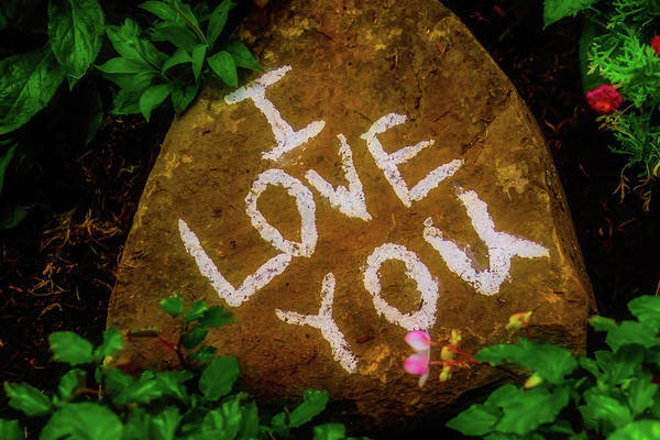 Love Me Tender Photograph - I Love You Rock by Garry Gay