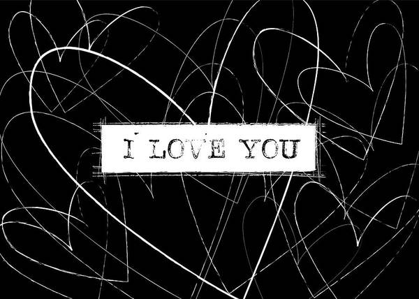 Love Notes Wall Art - Digital Art - I Love You Word Art by Kathleen Wong
