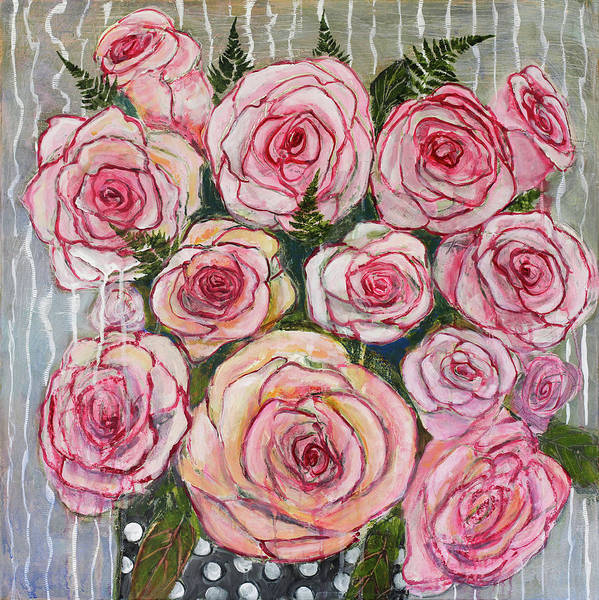 Wall Art - Painting - I Never Promised You A Rose Garden by Blenda Studio
