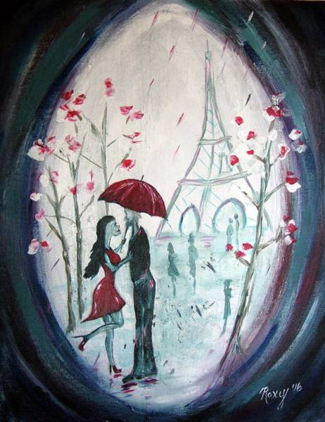 Paris Painting - I Only Have Eyes For You. by Roxy Rich
