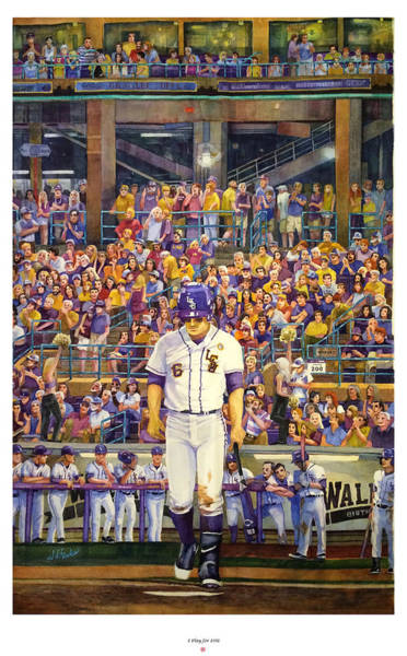 Hitter Painting - I Play For Lsu by Judy Hanks