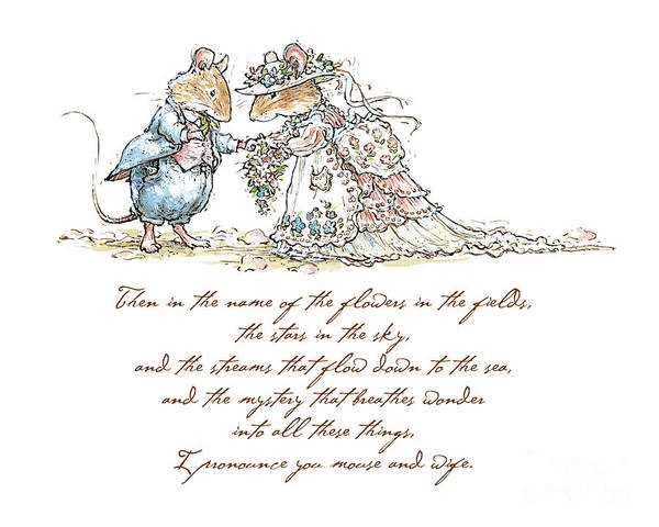 Wall Art - Drawing - I Pronounce You Mouse And Wife by Brambly Hedge