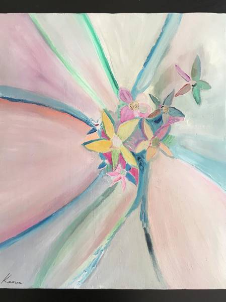 Flower Painting - I Saw You by Kanako Kumamaru