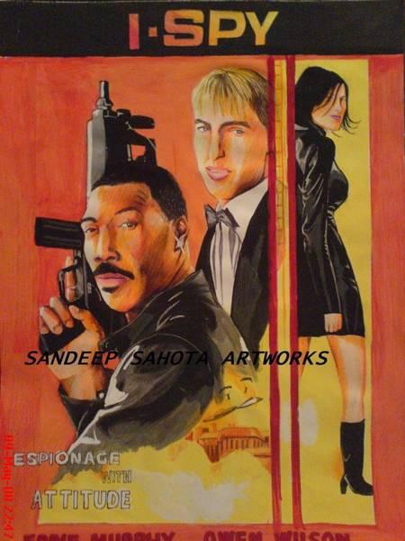 Orlando Bloom Painting - I Spy by San Art Studio