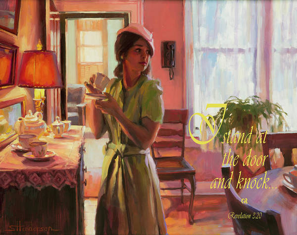Alert Wall Art - Digital Art - I Stand At The Door And Knock by Steve Henderson