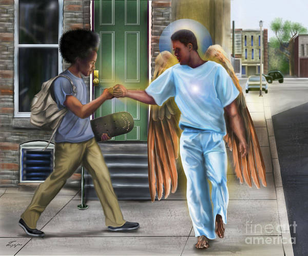 Painting - I Walk With Angels by Reggie Duffie