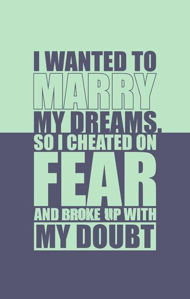 Wall Art - Digital Art -  I Wanted To Marry My Dreams Gym Quotes Poster by Lab No 4