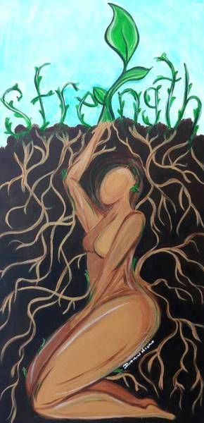 Wall Art - Painting - I Was A Seed by Diamin Nicole