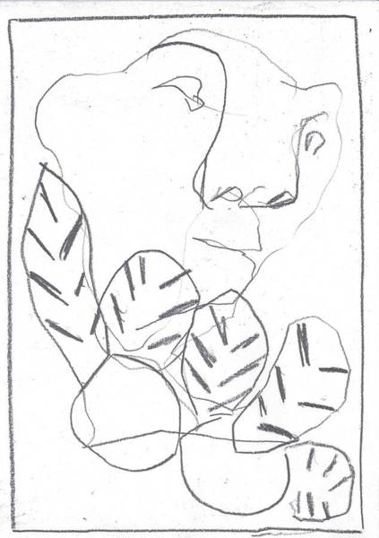 Drawing - I Was Born In A Mine 2 by Artist Dot