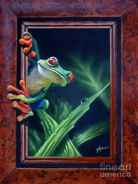 Painting - 'i Was Framed' by Greg and Linda Halom