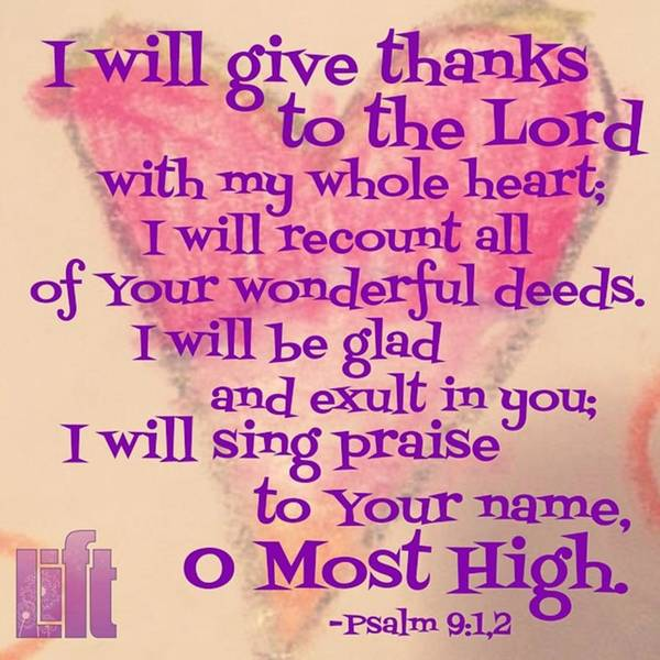 Design Wall Art - Photograph - I Will Give Thanks To The Lord With My by LIFT Women's Ministry designs --by Julie Hurttgam