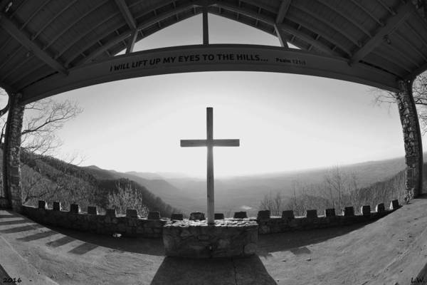 Photograph - I Will Lift My Eyes To The Hills Psalm 121 1 Black And White by Lisa Wooten