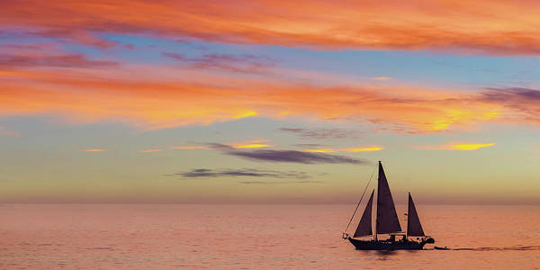Photograph - I Will Sail Away And Take Your Heart With Me Widescreen by Peter Tellone