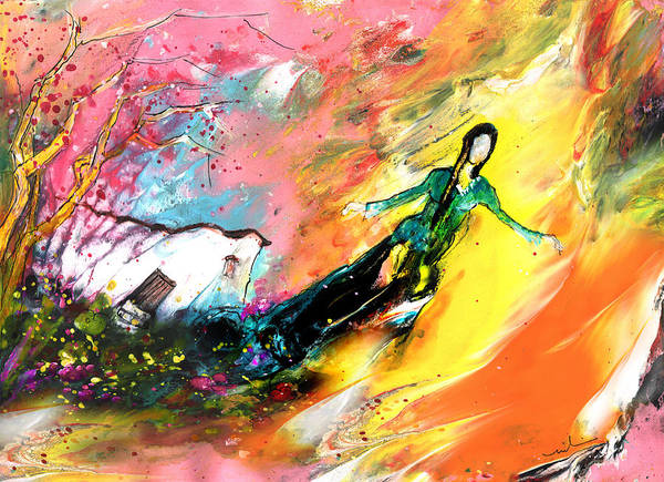 Painting - I Wish I Could Fly Very Far Away by Miki De Goodaboom