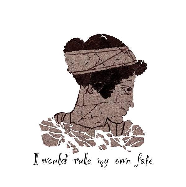 Digital Art - I Would Rule My Own Fate Helen Of Sparta by OLena Art Brand