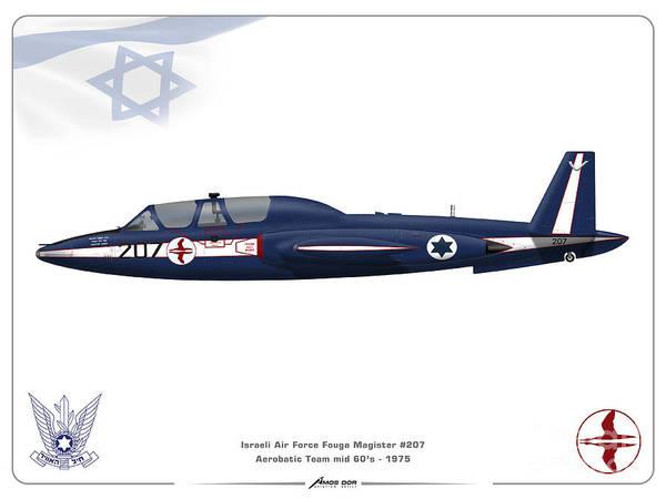 Iaf Aerobatic Team Fouga Magister Art Print