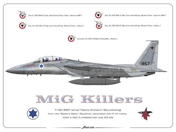 Iaf F-15d - Mig Killer Art Print