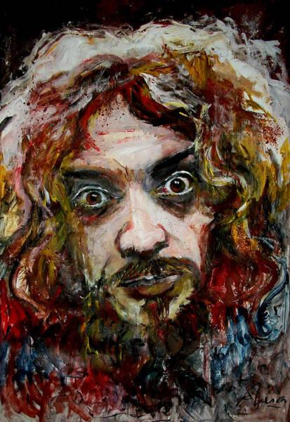 Progressive Rock Painting - Ian Anderson - Jethro Tull by Marcelo Neira