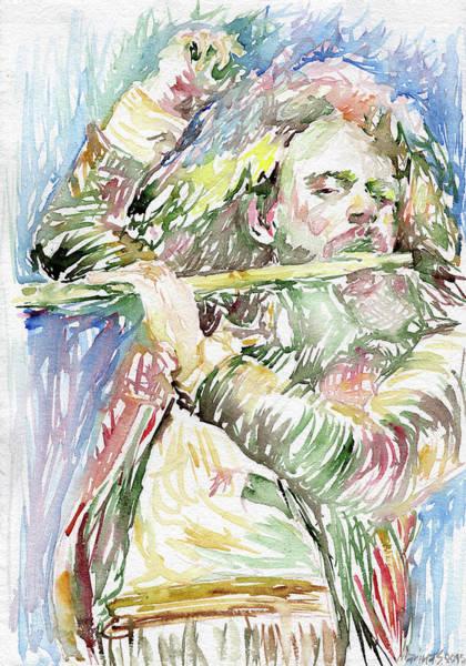Progressive Rock Painting - Ian Anderson by Marina Sotiriou
