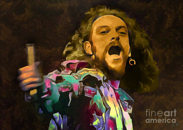 Progressive Rock Painting - Ian Anderson Collection - 1 by Sergey Lukashin