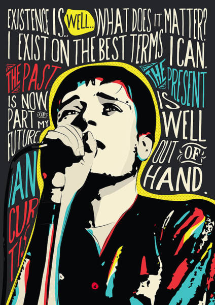 Wall Art - Digital Art - Ian Curtis Pop Art Quote With His Famous Quote by BONB Creative